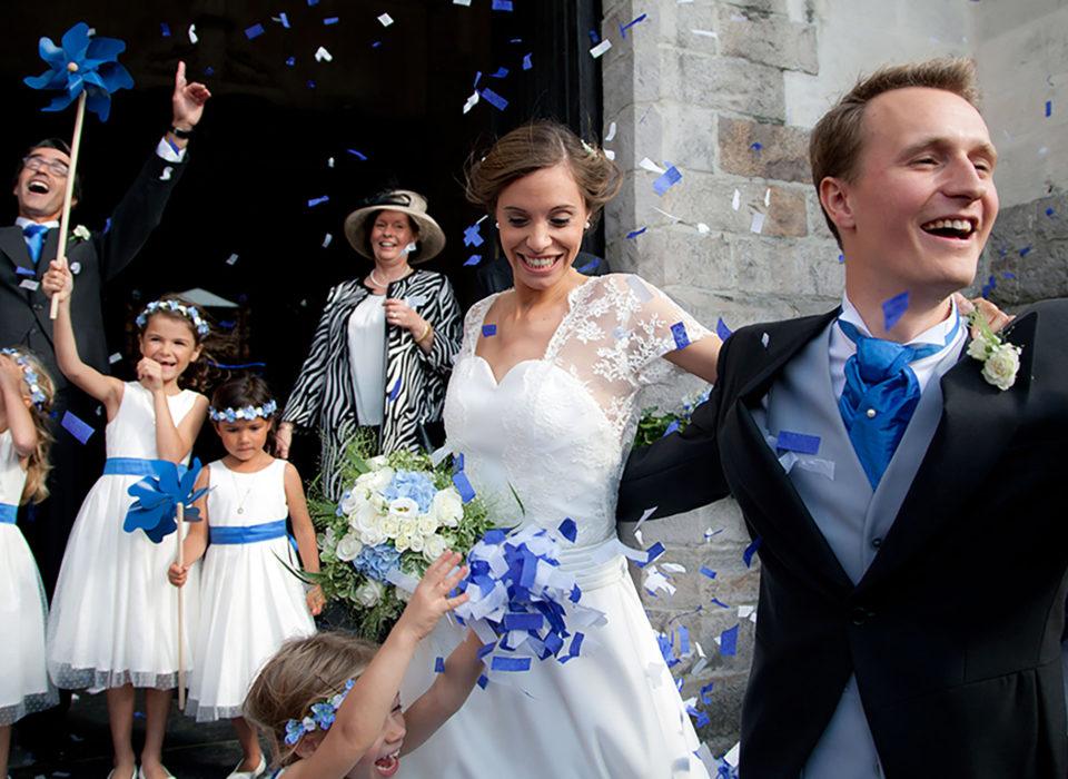 mariage détail bleu