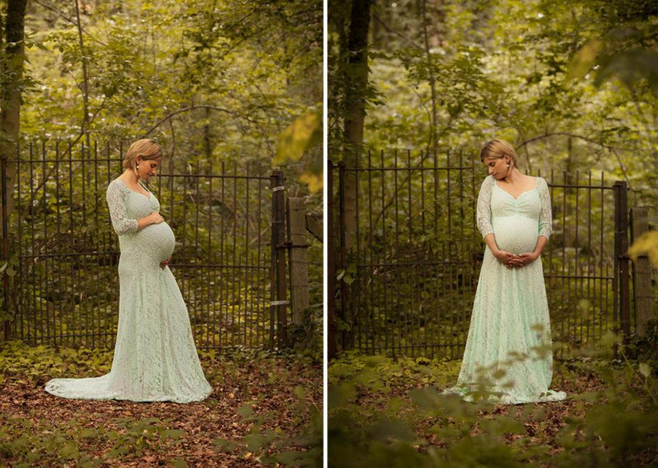 femme enceinte dans les bois