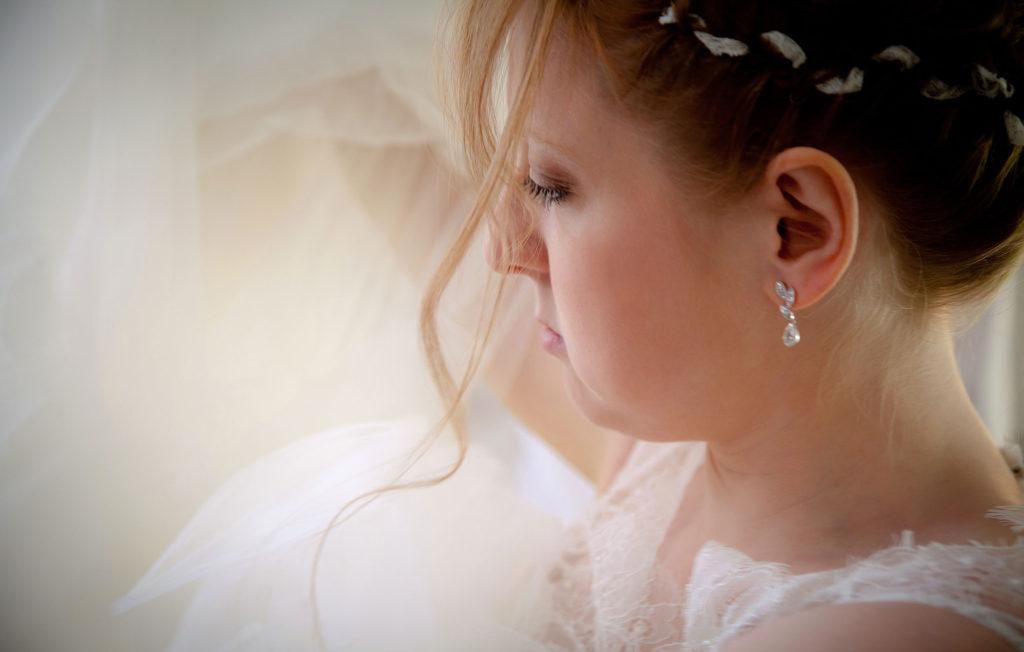 la composition photo lors de la préparation d'une mariée