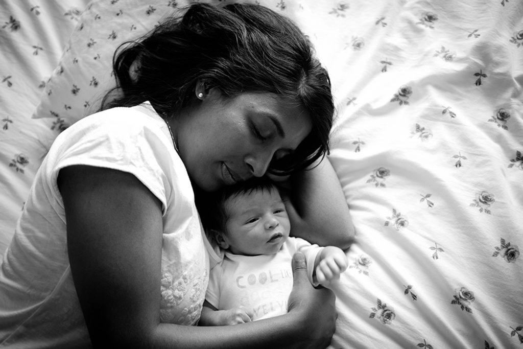séance photo bébé à la maison