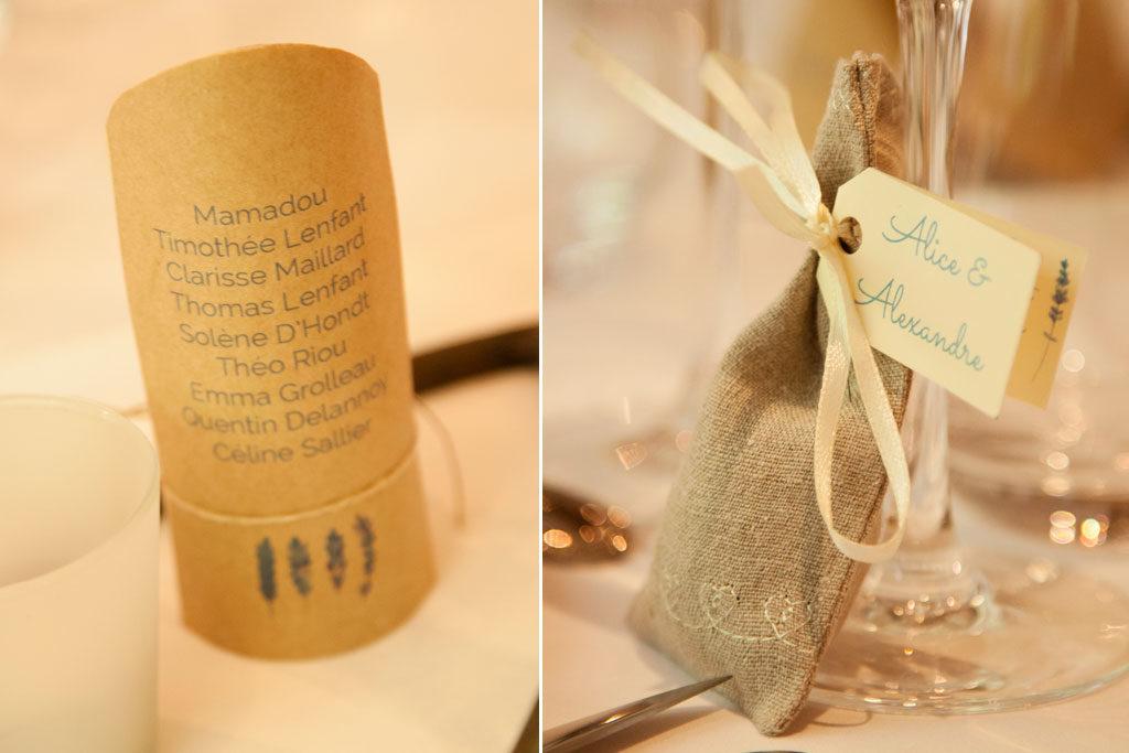 les cadeaux des invités dans le thème nature