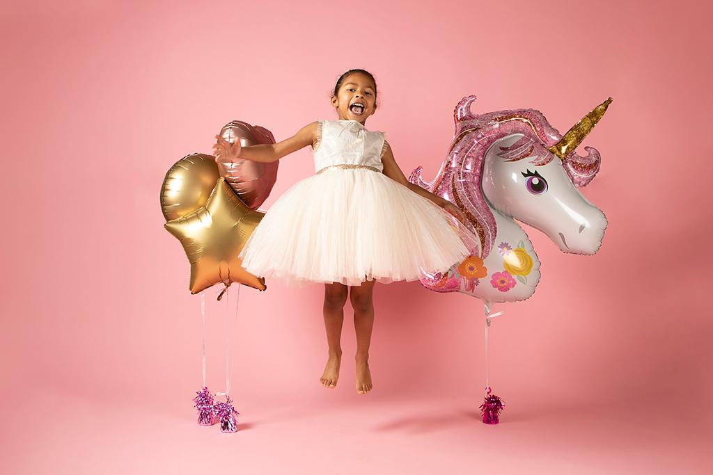 photo enfant thème licorne