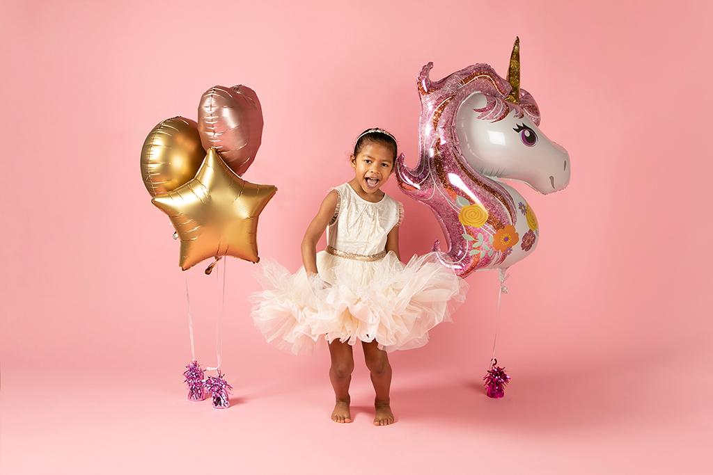 photo petite fille thème licorne