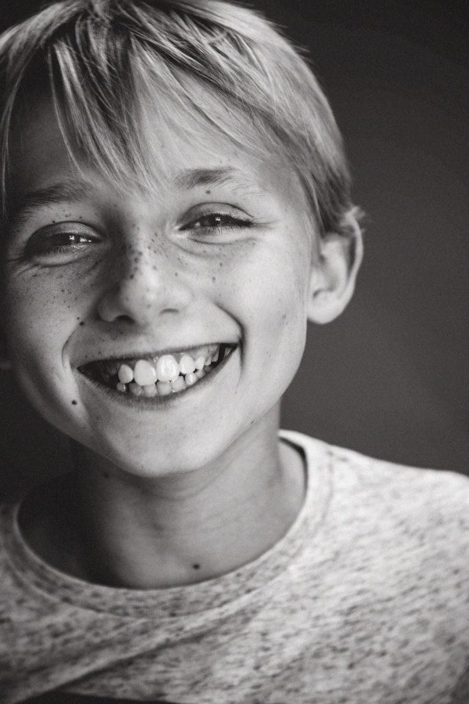 portrait d'un enfant en gros plan